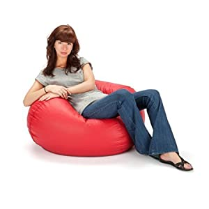 "Ace Bayou Matte red vinyl Bean Bag, 98"", Multiple Colors (Red)"