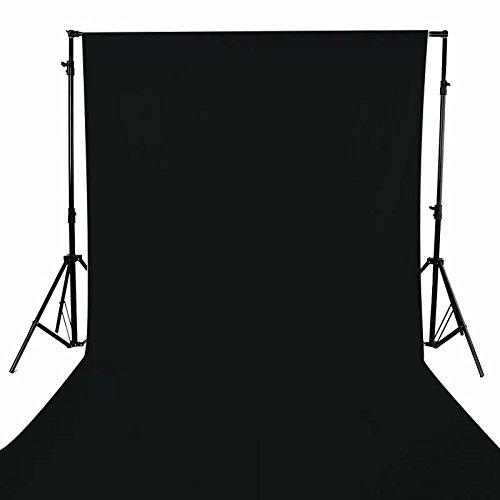 GFCC Photography Backdrops Black Polyester Backdrop 5FTX9FT Polyester Backdrop Curtains for Photo Booth