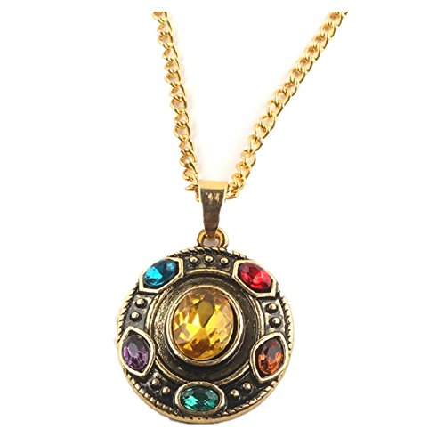 Joyfunny Supervillain Thanos Power Necklace Stones Pendant Necklace -