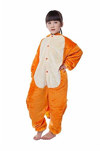 [Value Sport Kids Unisex Cosplay Pajamas Onesie Charmander Costume] (Pikachu Cosplay Costumes)