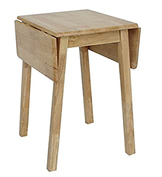 Natural Light Wood Compact Small Drop Leaf Table for Kitchen or ...