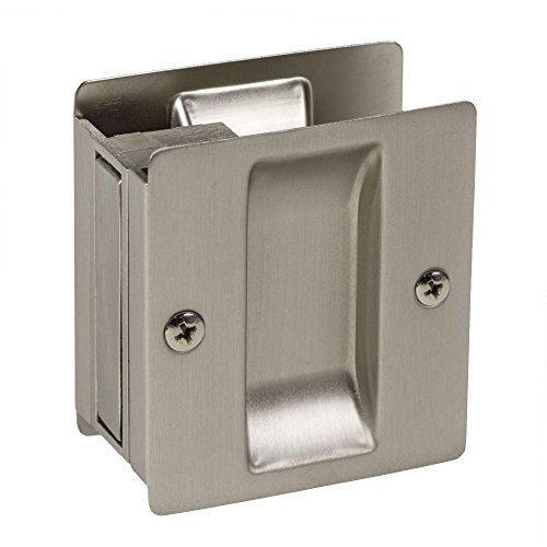 Satin Nickel Pocket Sliding Passage Door Hardware Handle Pull