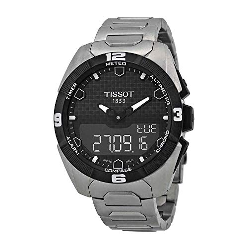 Tissot Men's T0914204405100 T-Touch Expert Solar Analog-Digital Display Swiss Quartz Silver ()