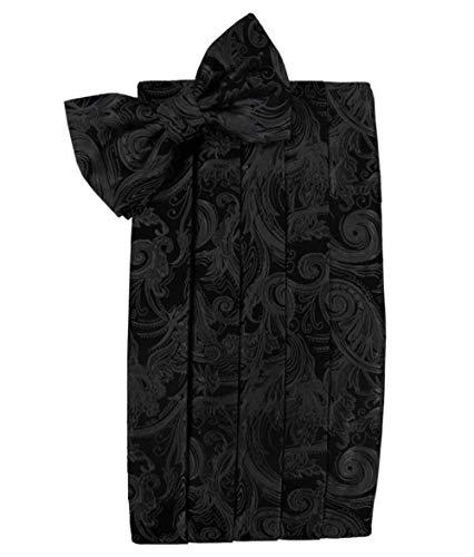 (Tapestry Silk Black Tuxedo Cummerbund and Bow Tie)