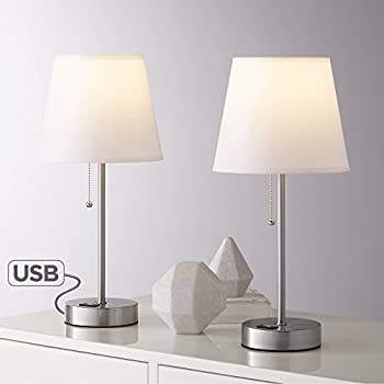 Heyburn Modern Accent Table Lamp With Hotel Style Usb And