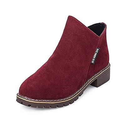 9a60c47d6ead2 Amazon.com: JingZhou Women Martin Boots Autumn Winter Classic Zipper ...