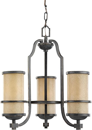 - Sea Gull Lighting 31520EN3-845 Roslyn Chandelier, 3-Light LED 28.5 Total Watts, Flemish Bronze