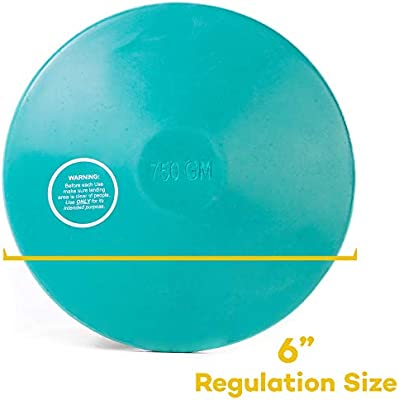 Crown Sporting Goods 1kg Rubber Practice Discus Women High