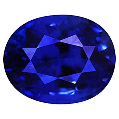 70b4e450e5de4 Color Gems Original Certified Natural Blue Sapphire Gemstone 7.25 Ratti For  Women