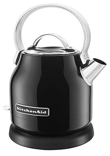 KitchenAid Stainless Steel Electric Water Tea Kettle Rmvble Base KEK1222OB Black