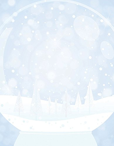 "Great Papers! Snow Globe Letterhead, 80 count, 11"" x 8.5"" (2015046)"