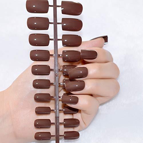 Amazon.com : Shiny Nature False Nails Pure Nude Candy Color Medium Full Salon Fake Acrylic Nail Tips Decoration DIY Finger Faux Ongles 205M nude : Beauty