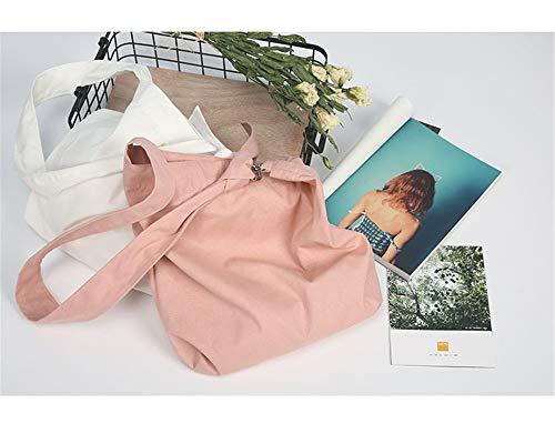 femelle sac original LANDONA bandoulière coréenne de sac métal en de sacs sauvage la toile design tissu modèles créatif diagonale en solide vague de version à de rose boucle 44OqY