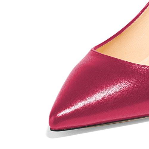 Fsj Women Fashion Scarpe Con Zeppa A Punta Chiusa Tacco Alto Fatto A Mano Slip On Comfort Shoes Taglia 4-15 Us Hot Pink