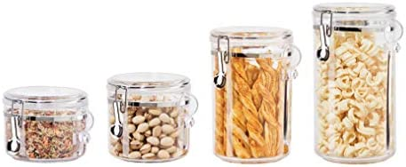 picture of Oggi 4-Piece Acrylic Canister Set - Airtight Lids and