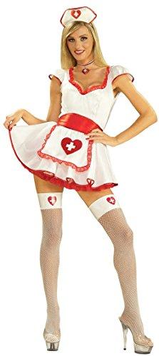 Handcuff Honey Cop Costumes (Women's Hospital Honey Sexy Adult Nurse Costume Size XS/SM (2-6))