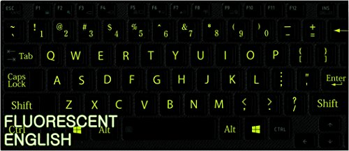 146ac68f57e REPLACEMENT ENGLISH US KEYBOARD STICKER WITH FLUORESCENT LETTER ON ...