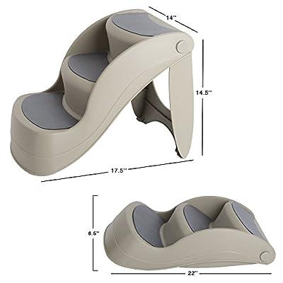 """PETMAKER 14.5"""" Nonslip Foldable Pet Step"""