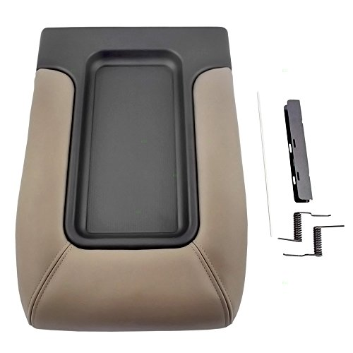 Tan Center Console Lid Repair Kit Replacement for Chevrolet GMC Cadillac Pickup Truck SUV 19127366
