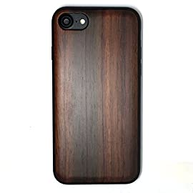 iPhone 7/iPhone 8 Case, iPhone 7 Wood case, BTHEONE Natural Genuine Wooden Case for iPhone 7 ?Real Wood Ultra Slim Hard… 9 √ Compatible with iPhone 7 (Not for iPhone7 Plus) √ Naturally wood different,each wood back has a unique grain and texture. √ Specially designed for iPhone 7, has precise design for speakers, charging ports, audio ports and buttons.