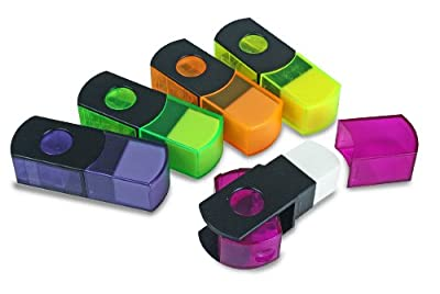 Eisen 10-pack Pencil Sharpener and Eraser Combo with German Blades, Assorted Colors (ESN-48010)