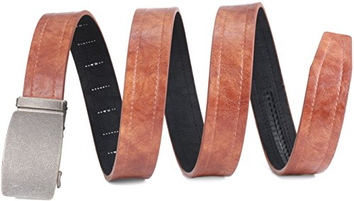 "Marino Genuine Leather belt for Men, 1.5"" Wide, Casual Ratchet Belt with Beer Bottle Opener Buckle - Tan Leather With Buckle - Custom: Up to 44"" Waist"