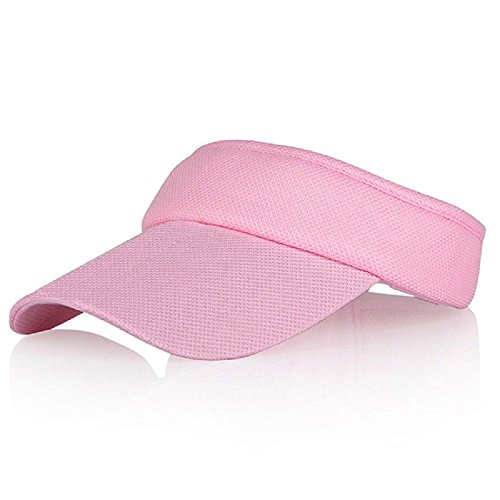 - Pink Sun Visors for Women and Girls, Long Brim Thicker Sweatband Adjustable Hats Caps for Cycling Fishing Tennis Running Jogging and Other Sports