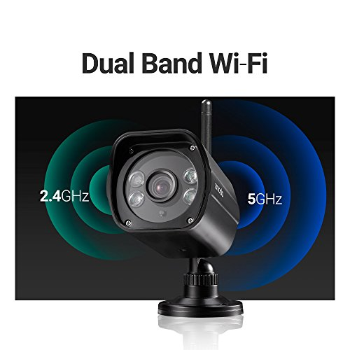 Zmodo 1080p Full HD Wireless Security Camera System, Dual Ba