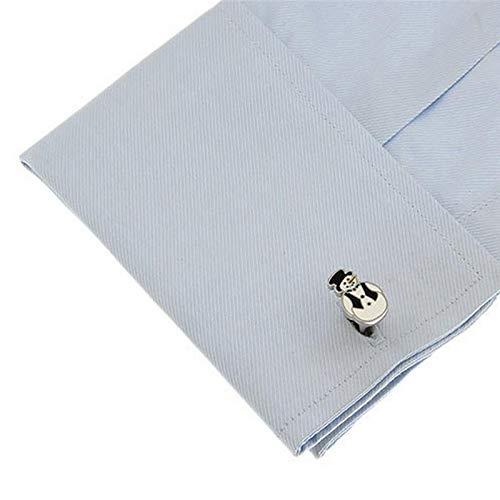 Hoveey Boutons de Manchette pour Homme R/étro 1 Paire M/étal Boutons pour Les Hommes Femme Blanc Boutons de Manchette pour Chemise Ongles Manches des Hommes