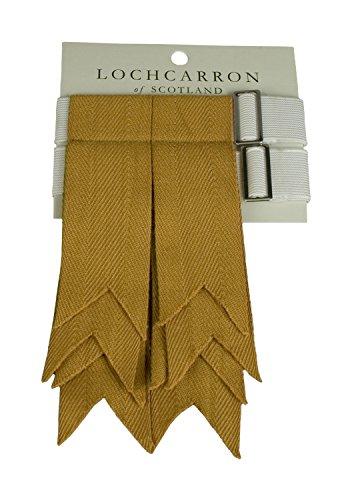 Gold Kilt - Premium Quality Wool Kilt Hose Flashes (Gold)