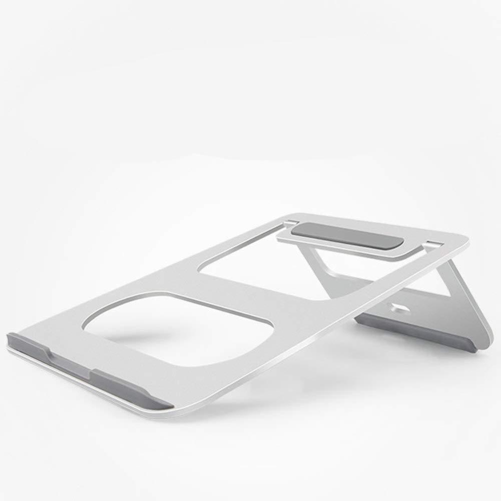 Aluminio plegable Soporte para portátil Con un ángulo de grados,Soporte inclinación de 18 grados,Soporte de refrigeración ergonómico portátil para macbook & laptop(11~17 pulgadas)-La Plata-B 225x230mm 019a6c