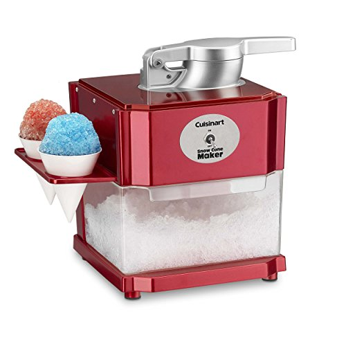 Cuisinart SCM-10 Snow Cone Maker, Red (Ice Shaver Machine)