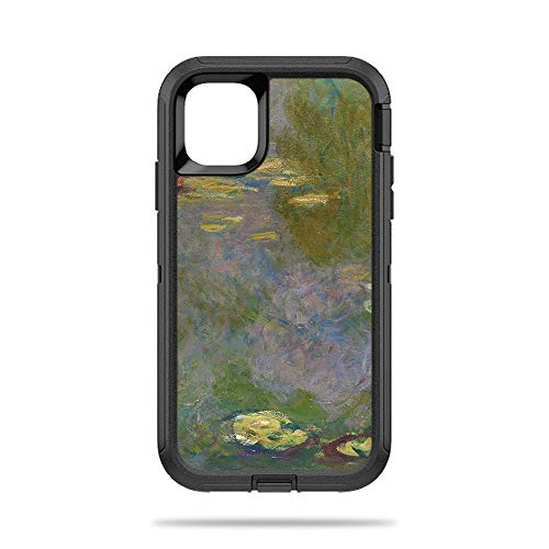 MightySkins Skin for OtterBox Defender iPhone 11 - Water Lilies | Protective, Durable, and Unique Vinyl Decal Wrap Cover | Easy to Apply, Remove, and Change Styles | Made in The USA (Apple Water Lilly)