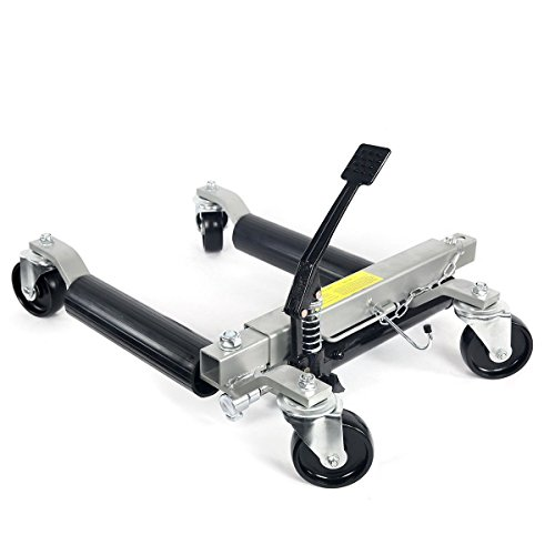 Rison® 2pc 1500lb HYDRAULIC Positioning Car Wheel Dolly Jack Lift hoists Moving Vehicle by Rison® (Image #2)