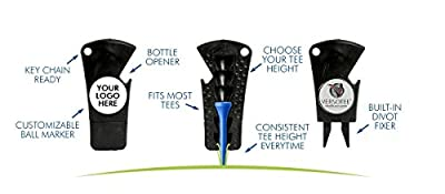 VERSOTEE Golf Tool - Divot Tool - Tee Height Gauge Ball Maker- - Bottle Opener Innovative Golf Product on Amazon