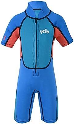 Yello Puffer - Traje de Neopreno para bebé, Traje de Neopreno para niños