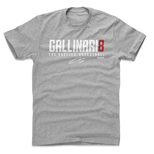 5c55835b84f 500 LEVEL Danilo Gallinari Cotton Shirt XX-Large Heather Gray - Vintage Los  Angeles Basketball Men s Apparel - Danilo Gallinari Gallinari8 W WHT