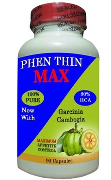 Phen Thin MAX, All Natural Appetite Suppressant 80% HCA, Rapid Fat Burning, Pharmaceutical Grade