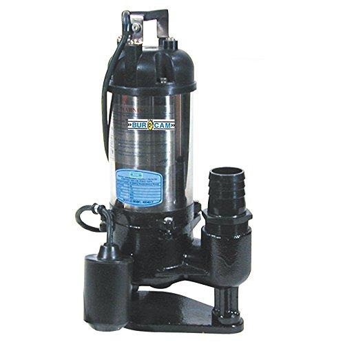 BurCam 400401T Cast Iron & Stainless Sewage Pump, 0.5 hp