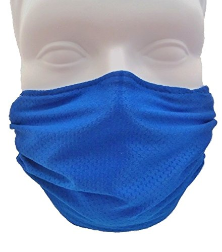 Breathe Healthy Honeycomb Blue Face Mask - Protect Your Immune System from Allergens, Pollen, Dust, Mold Spores, Flu with Antimicrobial Germ Killing Agent; Blue