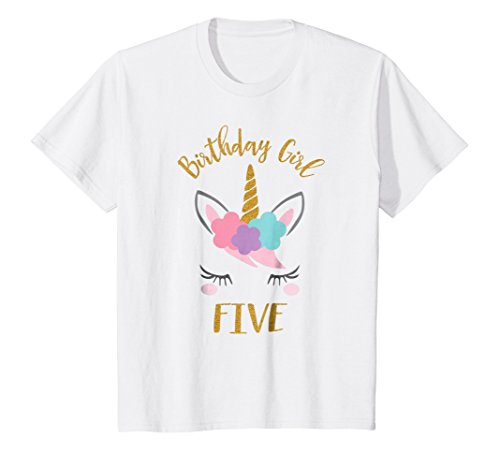Kids 5th Birthday Unicorn Outfit, 5th Birthday Girl (5th Birthday Girl)