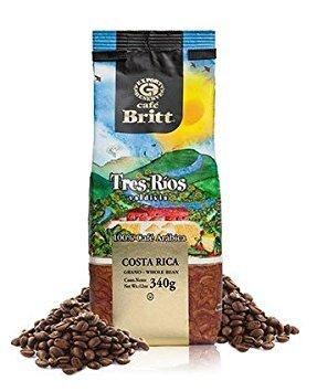 Cafe Britt Single Origin Costa Rica Tres Rios, Whole Bean coffee, 100% Arabica, 12 oz Kosher certified
