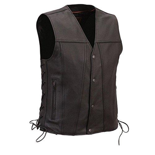 First Manufacturing Men's Gambler Motorcycle Vest, Black, XS ()