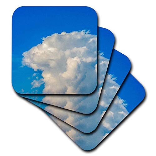 Anvil Coaster Set - 3dRose Alexis Photography - Nature Clouds - Huge cumulus cloud with a forming anvil. Blue sky, summer weather - set of 4 Coasters - Soft (cst_287106_1)