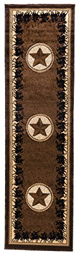 Texas Boot Camp (Rugs 4 Less Collection Texas Lone Star State And Riding American Cowboys And Patriots Novelty Area Rug Dark / Chocolate Brown 726 (2'x7'))