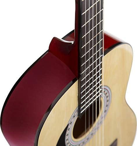 Guitarra acústica de mano izquierda, paquete de 3/4 tamaños (36 ...