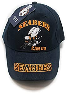 Wildbill's Navy Blue U.S. Navy Seabees Embroidery Cap by Wildbill's
