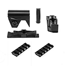 Worker Mod Front Rail Adapter Set with 2PCS 5cm Rail for Nerf Stryfe Color Black