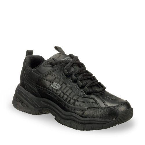 Skechers Per lavoro 76.759 morbida Stride Galley Stivali da lavoro Black Smooth Lthr/Midsole