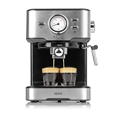 BEEM ESPRESSO-SELECT cafetera semiautomática de 15 bares | Espresso, cappuccino, latte macchiato, calidad de barista…